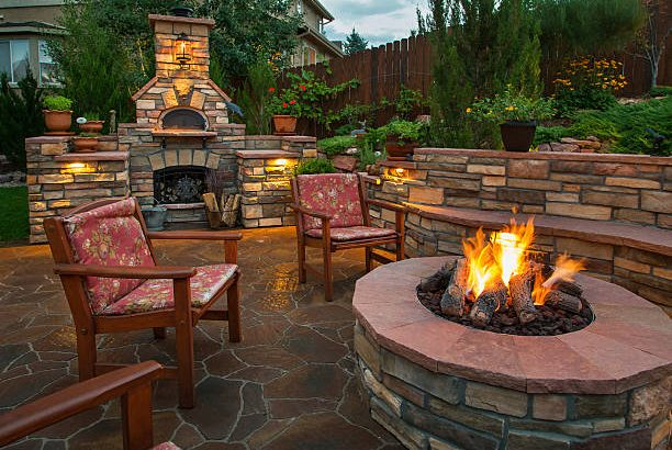 Bali Outdoor Lp Gas Fire Pit Tables